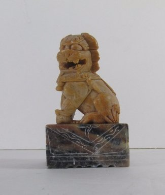 Antique Chinese Foo Dog Hand carved Stone Seal Stamp