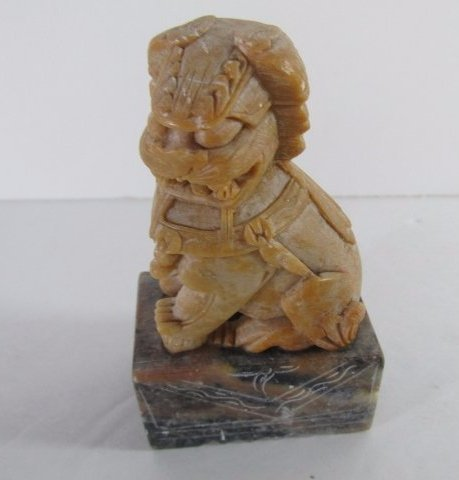 Antique Chinese Foo Dog Hand carved Stone Seal Stamp - 2