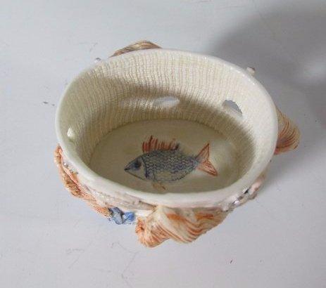 Rare Russian Porcelain Trinket Box with Fish Figurine - 4