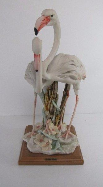 Giuseppe Armani Bisque Porcelain Pair of Flamingo's