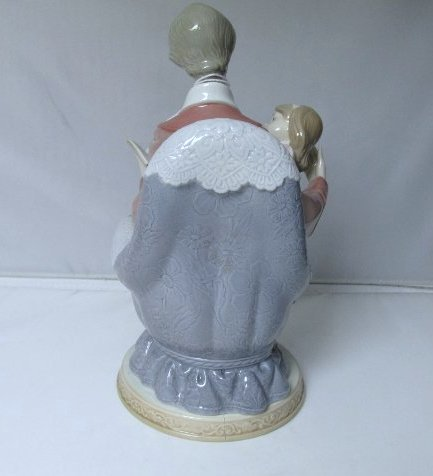 """Lladro Father and Daughter Figurine #5584 9 1/2"""" H by 4 - 2"""