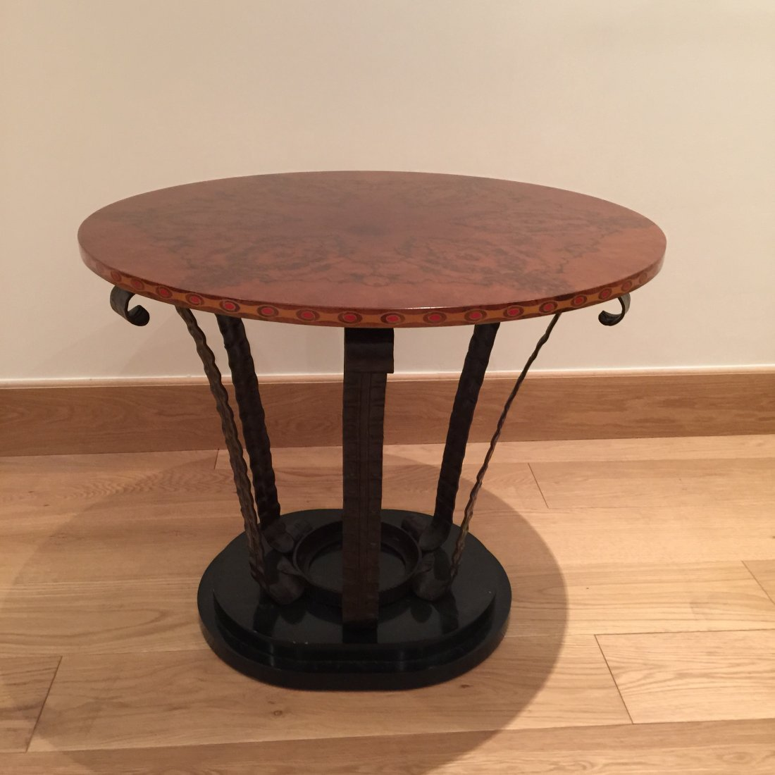 1 Wrought iron pedestal table FFGUER  NR