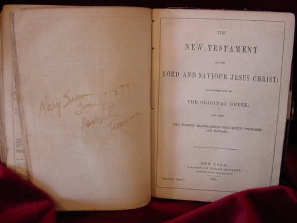 107: Zerelda James Family Bible Jesse James Collection - 4