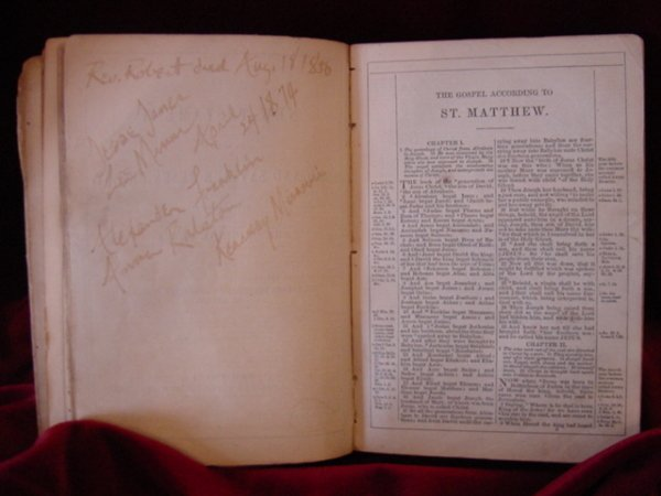 107: Zerelda James Family Bible Jesse James Collection - 5