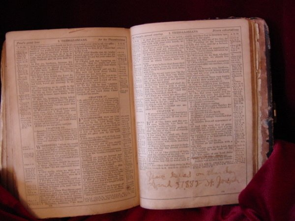107: Zerelda James Family Bible Jesse James Collection - 6