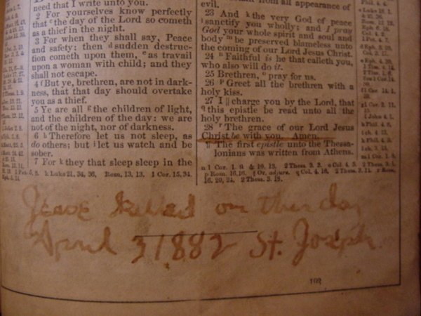 107: Zerelda James Family Bible Jesse James Collection - 7