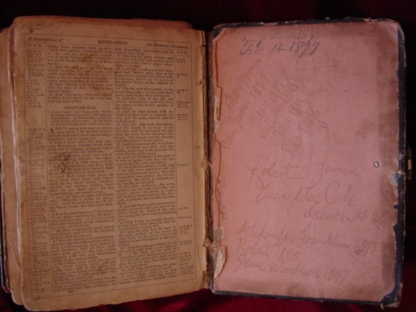 107: Zerelda James Family Bible Jesse James Collection - 8