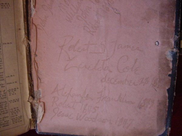 107: Zerelda James Family Bible Jesse James Collection - 9