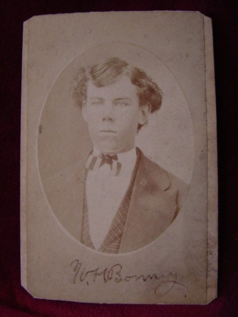 127: Signed Photo of Billy the Kid aka W H Bonney