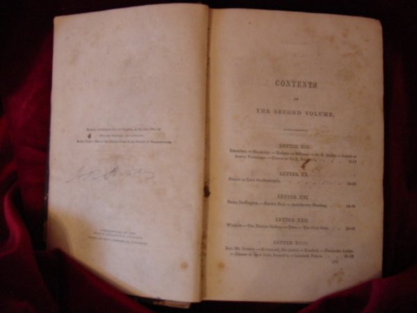 129: H B Stowe Book w/ Signature & Lincoln Note