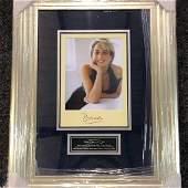 Princess Diana signed and framed photograph