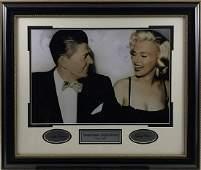 Ronald Reagan & Marilyn Monroe Vintage Framed Photo