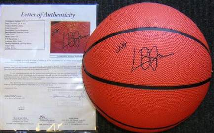 Lebron James signed Basketball RARE!! JSA LOA
