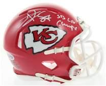 Travis Kelce Signed Chiefs Speed Mini Helmet Inscribed
