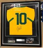 Pele signed Framed jersey