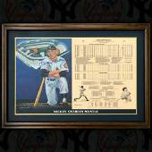 Mickey Mantle Signed Plaque in Framed Display LIMITED
