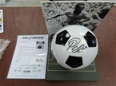 Pele signed 1970 World Cup Ball with Perspex Casing PSA