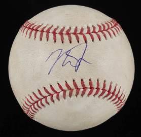 Mike Trout Signed Game-Used OML Baseball (PSA COA & MLB