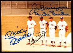 RARE!! MLB Hall of Famers 3.5x5 Photo Signed by (4)