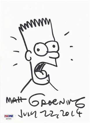 Matt Groening - The Simpsons -Creator - Bart Original