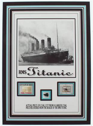 Authentic Coal From Titanic Wreckage on 6x8 Photo (The