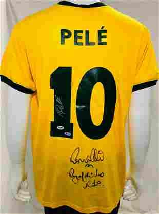 Brazil Ronaldinho, Ronaldo and Pele Signed Soccer