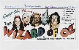 """""""The Wizard Of Oz"""" 11x17 Photo Cast-Signed by (4) with"""