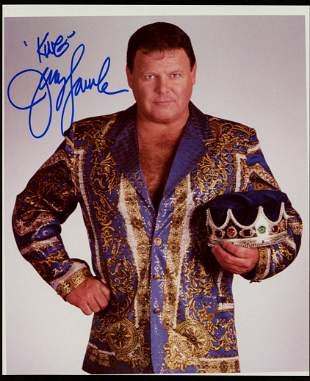 "Jerry ""The King"" Lawler Signed 8x10 Photo Inscribed ""Ki"