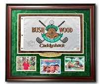 Chevy Chase Signed Caddyshack Flag Frame Collage COA