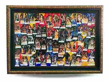 2010 NBA Legends of Basketball 61 Autographs Artwork