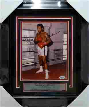 Muhammad Ali Autographed Framed 8x10 Photo PSA/DNA