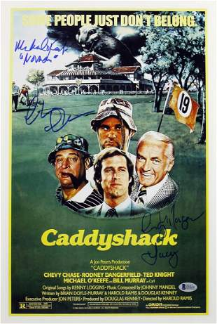 Caddyshack (3) Chase, Morgan & O'Keefe Signed 12x18