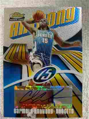 2003 Topps Finest Carmelo Anthony RC Rookie Card Auto