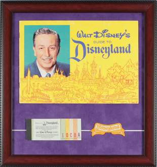 1962 Disneyland Souvenir Guide & Vintage Ticket Book