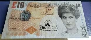 BANKSY Di-Faced Tenner £10 dismaland souvenir
