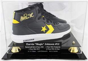 Magic Johnson Signed Converse Basketball Shoe With High