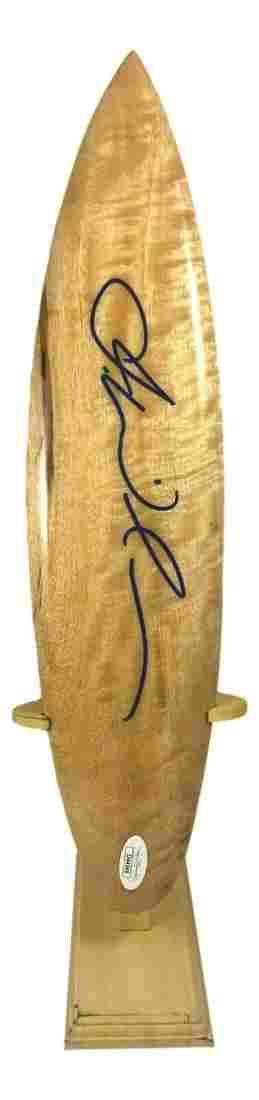 Julian Wilson Hand Signed Wooden Mini Surf Board