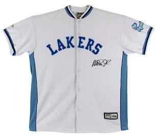 Magic Johnson Signed Lakers Warm-Up Jacket (Beckett