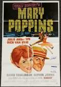 Dick Van Dyke signed Original Mary Poppins 27x40 Poster