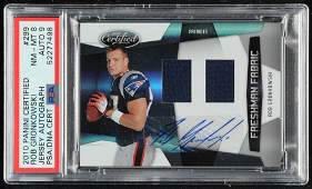 Rob Gronkowski 2010 Certified #299 Jersey Autograph RC