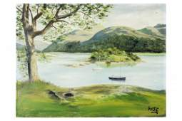 Winston Churchill Original Landscape Oil Painting