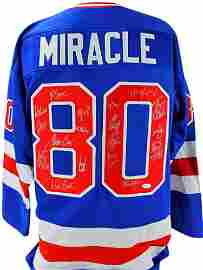 """1980 Team USA Hockey """"Miracle on Ice"""" Jersey Signed by"""
