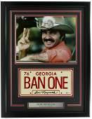 Burt Reynolds Signed Framed Smokey & the Bandit License