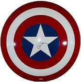 Chris Evans Hand Signed Captain America Shield BAS COA