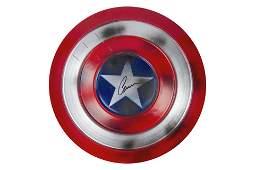 Captain America - Chris Evans signed Sheild BAS