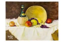 Winston Churchill Original Still Life Oil Painting