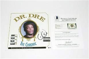 DR. DRE SIGNED 'THE CHRONIC' ALBUM VINYL RECORD LP