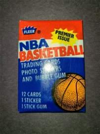 1986 FLEER BASKETBALL WAX PACK UNOPENED MINT CONDITION