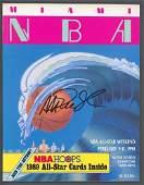 Lakers Magic Johnson Authentic Signed 1990 NBA ASG Prog
