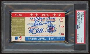 Nolan Ryan Signed 1976 MLB All-Star Game Ticket (PSA En